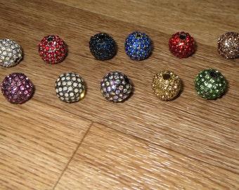 Rhinestone Round Ball 12 MM (see colors below)