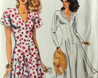 Uncut 1980s Vogue Vintage Sewing Pattern 7435, Size 12-14-16; Misses' Dress