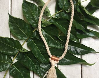 LOOPED - Repurposed Copper and Rope Necklace