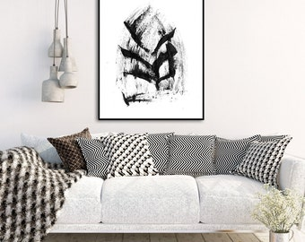 Printable Abstract Art Print Instant Download Printable Art Black and White Art Minimalist Painting Scandinavian Modern Wall Art Print