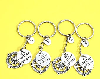 Distance Friendship, Gift friends long distance,4 Friends Gifts, Best friends keychain - set of four, bff charm, keychain set of 4 friends