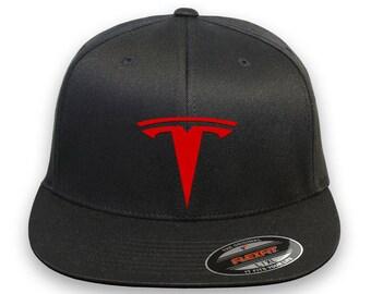 Tesla Motor Flex Fit Hat  Choose Your Size And Color