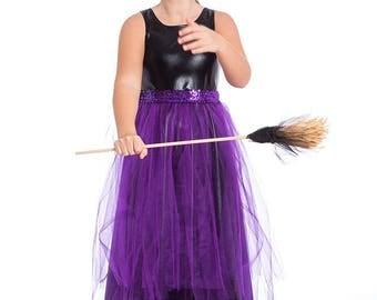 Witch Costume, Black and Purple Witch Costume, Girls Toddler Halloween Costumes, Girls Costumes, Kids Costumes, Girls Halloween Costume .