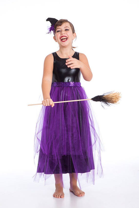 Witch Costume Black and Purple Witch Costume Girls Toddler