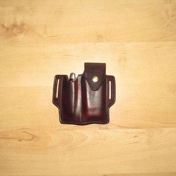 Leather Sheath custom crafted to Leatherman© Charge Sheath and Case Knife, custom knife sheath, custom Leather case, EDC, OWB