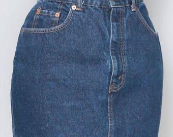 Vintage 1990's Levi's Dark Wash Mini Skirt