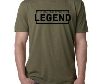 The Man, The Myth, The Legend Shirt - Dad Shirt - Papa Shirt - Grandfather Shirt - Boyfriend Shirt - Husband Shirt - Men's Christmas Gift
