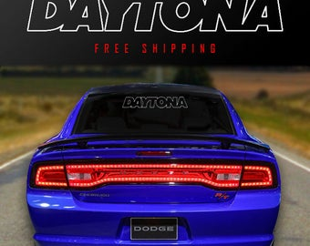 Daytona Windshield Banner Vinyl Decal Sticker dodge racing mopar lettering srt rt charger challenger dart
