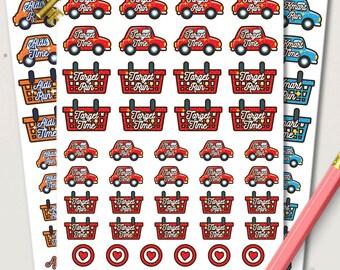 Shop Run Planner Stickers | Target stickers | Kmart Stickers | Aldi Stickers
