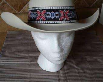 Vintage Stetson 5X Hat - Size 6 7/8 - Beautiful Cream Color - Stetson Cowboy Hat