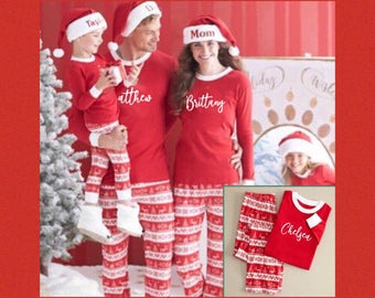 PRE-ORDER 20% OFF Ends July 31st, Personalized Christmas Pajamas, Family Christmas Pajamas, Christmas in July Sale, Holiday Pajamas