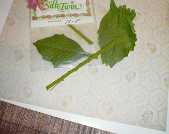 Vintage Millinery Silk Leaves Greenery Floral Supplies Hatmaking Craft Wreath Making Supplies