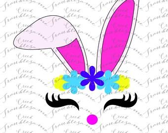 Cute Bunny svg, Easter svg,  svg, Bunny svg, Kids easter svg, SVG, DXF, easter, rabbit svg, iron on, bunny shirt, cutter