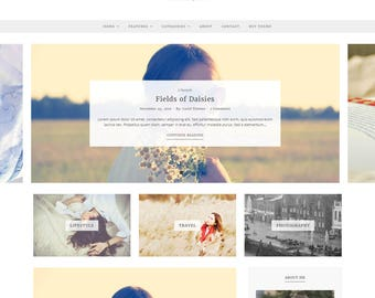 Essence - WordPress Blog Theme - Feminine WordPress theme - Responsive WordPress theme - Website template