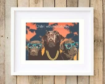 Labrador gangster dog art decor ideas Gag gifts for him Best gifts for guys gag-gifts Gifts-for-boyfriend funny-gifts-for-him cool man cave
