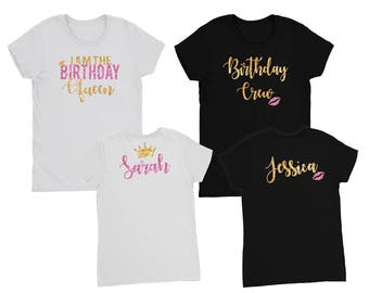 Birthday Queen Shirt // Birthday Girl Shirt // Birthday party shirts // Birthday crew // View Item details for order instructions