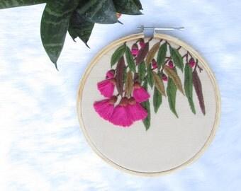 Eucalyptus caesia embroiderd hoop