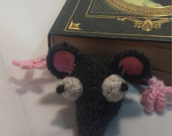 Crocheted Rat Bookmark