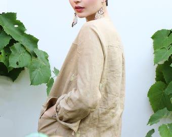 Embroidered safari jacket