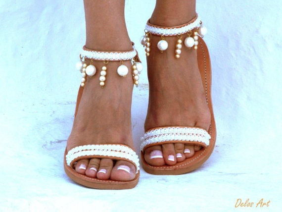 Moonlight bridal sandals leather sandals white beach wedding moonlight bridal sandals leather sandals white beach wedding sandals pearl sandals greek sandal luxury sandals summer shoes junglespirit Gallery