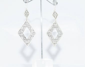 Earrings silver with engraving etncio tribal Berber tuareg