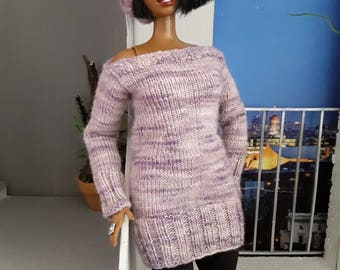Hand knitted set for curvy