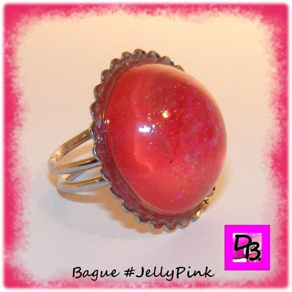 Bague Résine [Jelly Pink]
