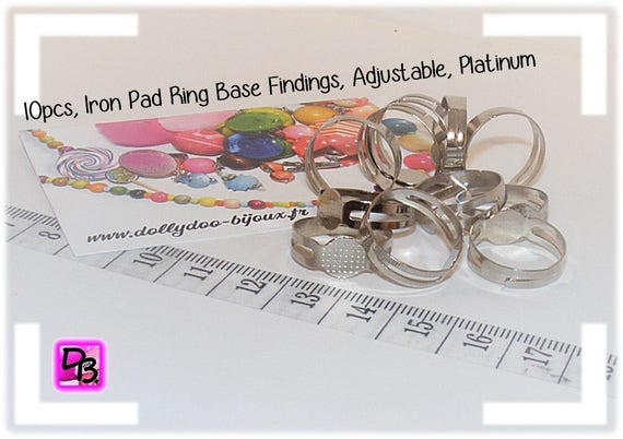 10 Supports de bague 8 mm [Pad ring base]