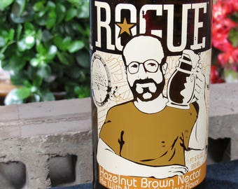 rogue hazelnut brown unique glass tumbler gift idea real man gift bar gift for dad perfect gift for dad beer lover gift earth friendly gift