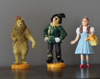 Wizard of Oz Figurines - Dorothy, Scarecrow, Cowardly Lion