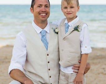Father Son Ties - Father and Son Matching Tie Set - Wedding Tie Family - Baby Neck Tie - Toddler Neck Tie - Boys Neck Tie
