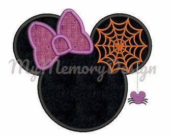 Halloween Embroidery Design - Girl Applique design -  Mouse head embroidery design - Machine embroidery - INSTANT DOWNLOAD - 3 SIZE
