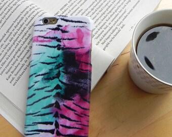 iPhone 8 Case, iPhone 7 Plus Case, iPhone 8 Plus Case, iPhone 7 Case, iPhone case tiger, phone case, tiger, gift under 20, gift,purple,black