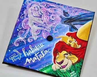 Handpainted Lion King Graduation Cap