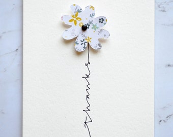 Flower Thanks Greeting Card