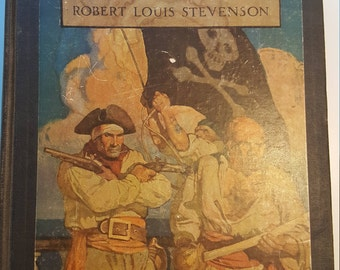 Treasure Island by Robert Louis Stevenson, Vintage Book from 1911 with Misprint in Contents