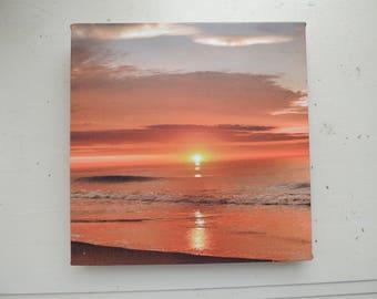 Ocean City Sunrise Photograph on Canvas