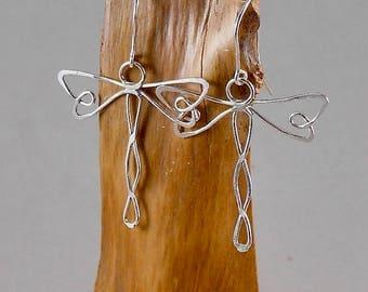 dragon fly - sterling silver earrings