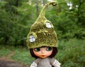 Blythe Hat Blythe Fairy hat Blythe Blythe mossy hut hat Blythe elf hat Blythe  hat blythe christmas neo blythe hat pullip hat BJD SD hat
