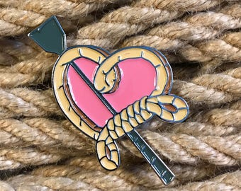 I Heart Shibari Enamel Pin