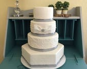 Custom order Faux wedding cake with bling and bow