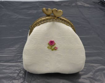 mothers purse / / embroidery purse / / wedding purse / / baptism / / ceremony / / hand embroidery / / pink