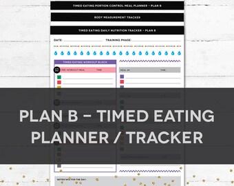 Timed Eating Planner & Tracker - PLAN B