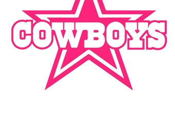 Dallas Cowboy Decal - use on a Yeti, RTIC, or Ozark cup, Beer Cooler, Car window, Walls, Home Windows, Toilet Seat, etc.