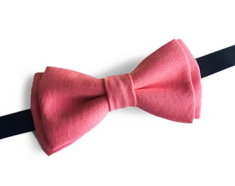 "Pink Pre Tied Bow Tie ""Wieland"", Best Handmade Gift For Men, Weddings, Birthday, Valentines Day"