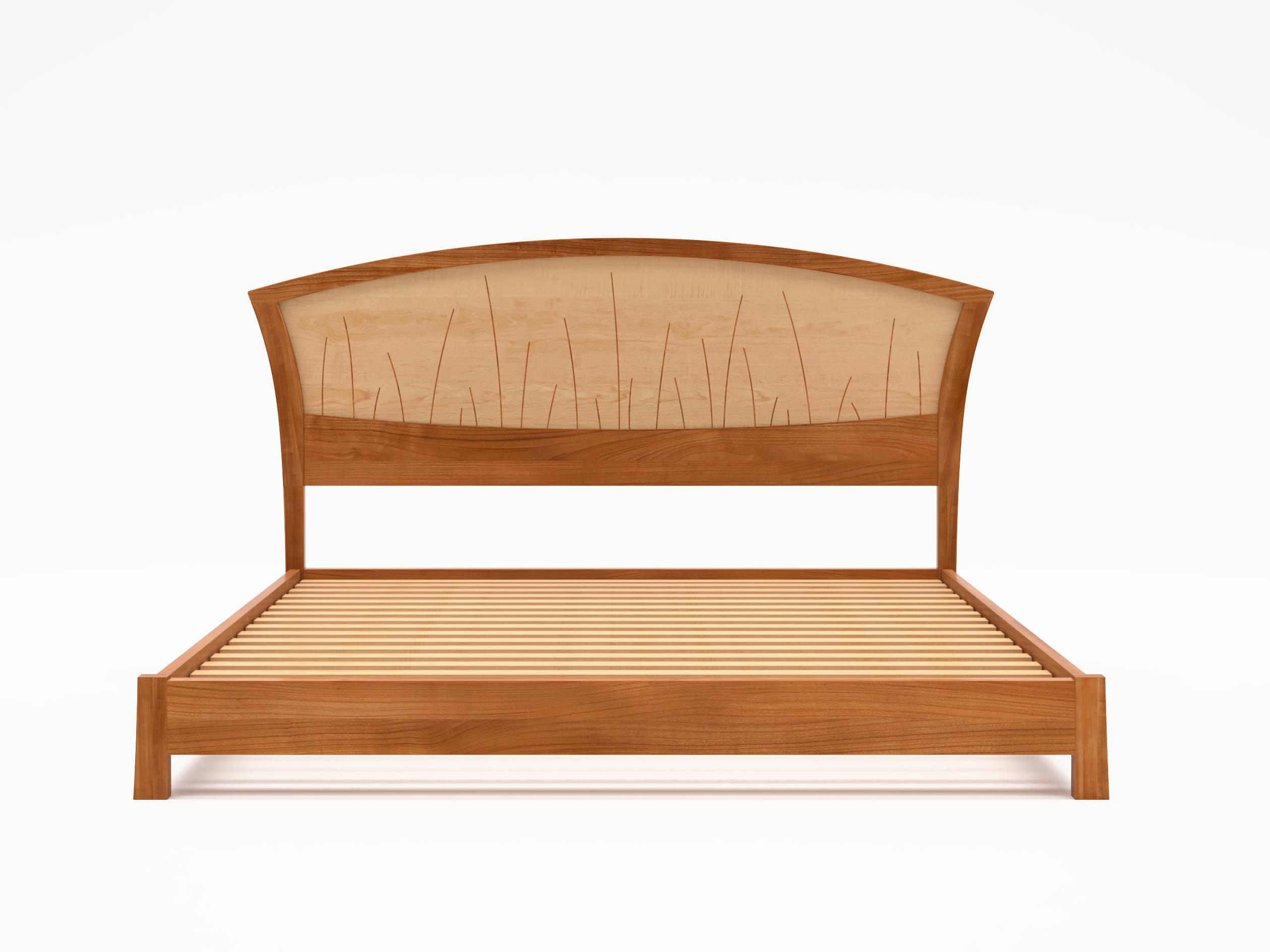 modern platform bed queen size low bed frame wood art deco. Black Bedroom Furniture Sets. Home Design Ideas