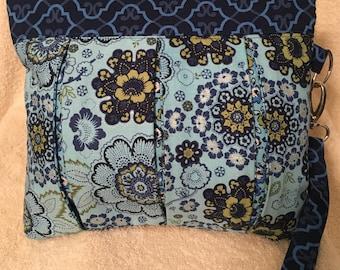 Peek-A-Boo Purse with Blue Flowers