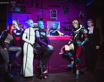 Asari dancer Mass Effect cosplay costume