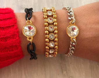 Swarovski Bracelet, Swarovski Crystal Bracelet, Swarovski Jewelry, Delicate Bracelets, Gift for Her, Made in Greece.