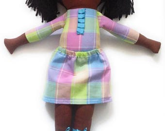 Fabric, Doll,  Handmade Rag Doll, Cloth Doll, Soft Doll